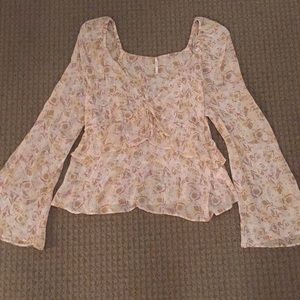 Free people floral blouse size M